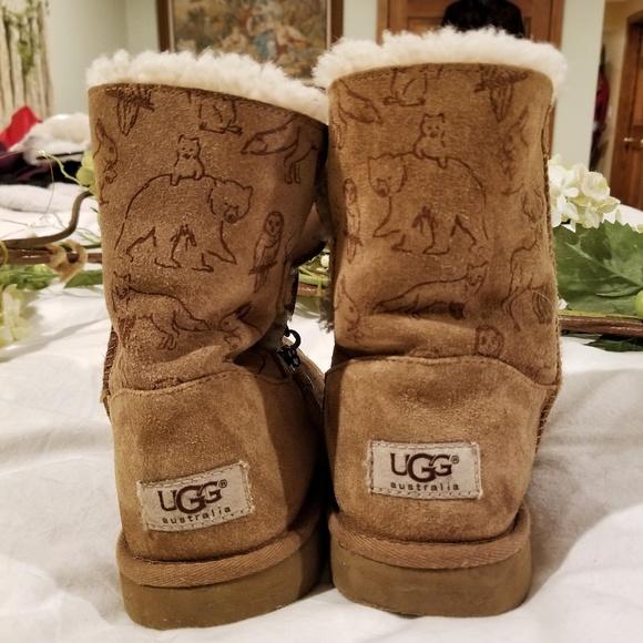 e1a191a8c46 Kids Ugg Fauna Sheepskin Lined Boot